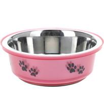 Etetőtál kutyáknak  rózsaszín, 300 ml
