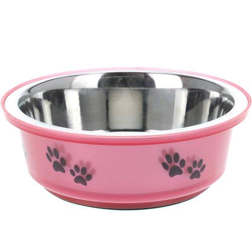 Miska pre psa ružová, 300 ml
