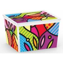 KIS Dekorační úložný box C-Box Style Artists CUBE, 27 l