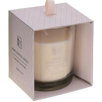 Home scented White lily gyertya üvegpohárban, 9 x 10 cm