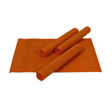 Bambusové prostírání oranžová, 30 x 45 cm, 4 ks