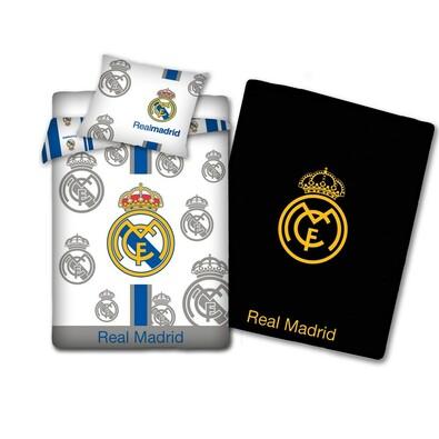 Svítící bavlněné povlečení Real Madrid, 140 x 200, 70 x 80 cm