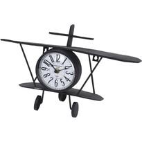 Stolné kovové hodiny Aeroplane, 37,5 cm