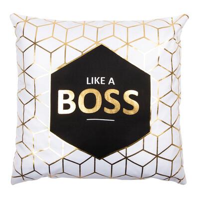 Polštářek Gold De Lux Boss, 43 x 43 cm
