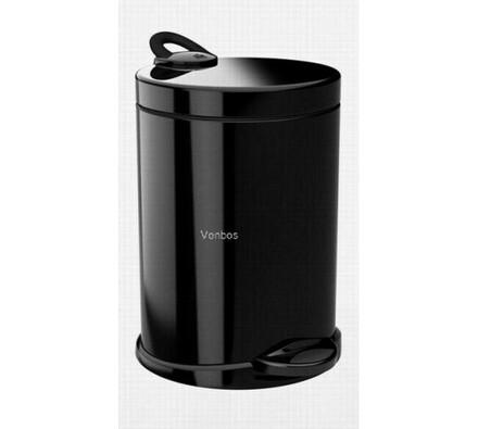 Odpadkový koš Meliconi Opera De-Luxe BS 14 l, černá