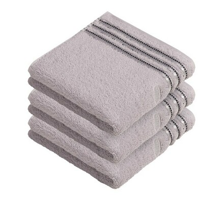 Vossen ručník Cult De Luxe světle šedá, 50 x 100 cm sada 3 ks