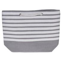 Stripes strandtáska, 52 x 38 cm, szürke