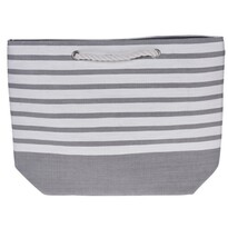 Torba plażowa Stripes 52 x 38 cm, szary