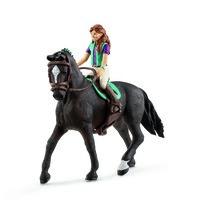 Schleich Lisa, a barna hajú baba és Storm, a ló