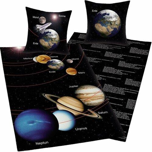 Bavlněné povlečení Vesmír, 140 x 200 cm, 70 x 90 cm