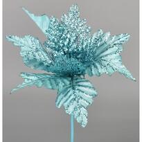 Umelá Poinsettia modrá, 25 cm