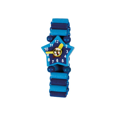 Bino Dřevěné hodinky modrá