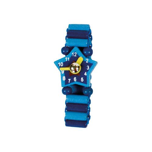 Bino Drevené hodinky modrá