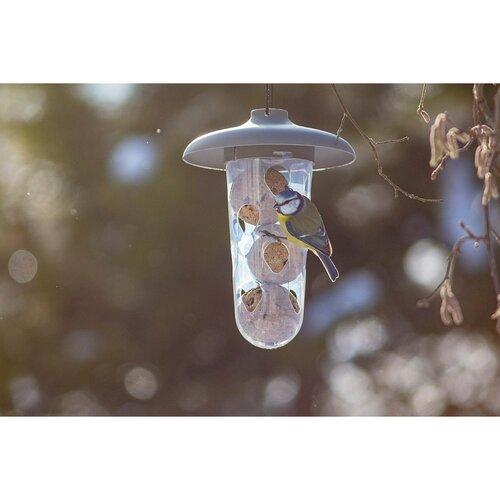 Plastia Sada kŕmidiel pre kŕmenie vtákov Robin 2 ks, antracit