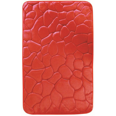 Kúpeľňová predložka s pamäťovou penou Kamene červená, 50 x 80 cm