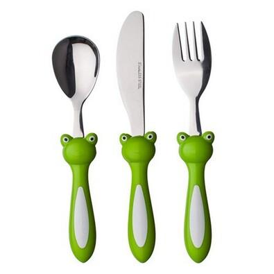 Dětský příbor žabička, Banquet, zelená