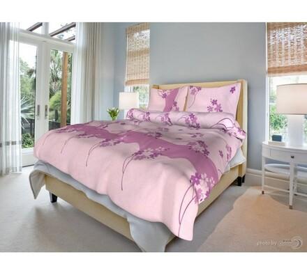 Bavlněné povlečení Běla růžová, 140 x 200 cm, 70 x 90 cm