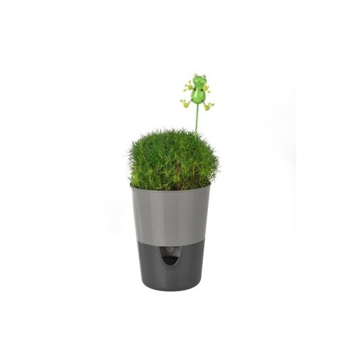 Plastia Samozavlažovací květináč Rosmarin, šedá