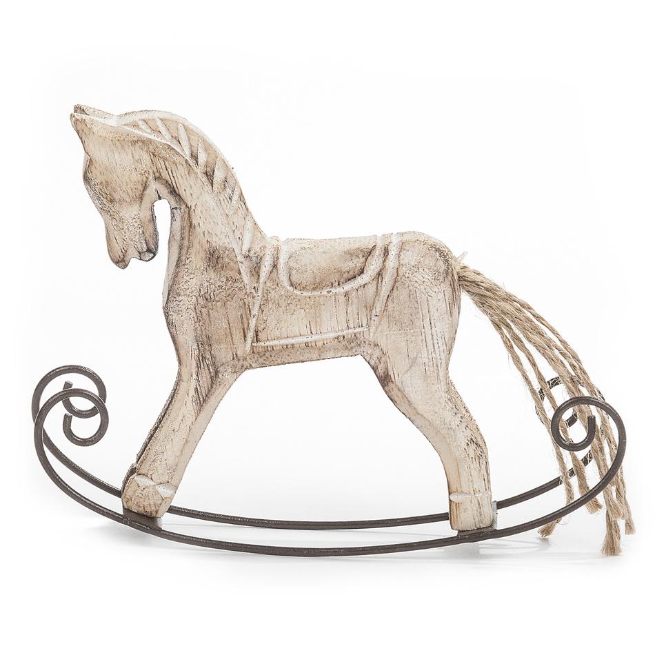 Dakls Dřevěný houpací koník béžový