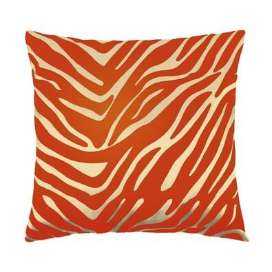 Polštářek Leona zebra oranžová, 45 x 45 cm