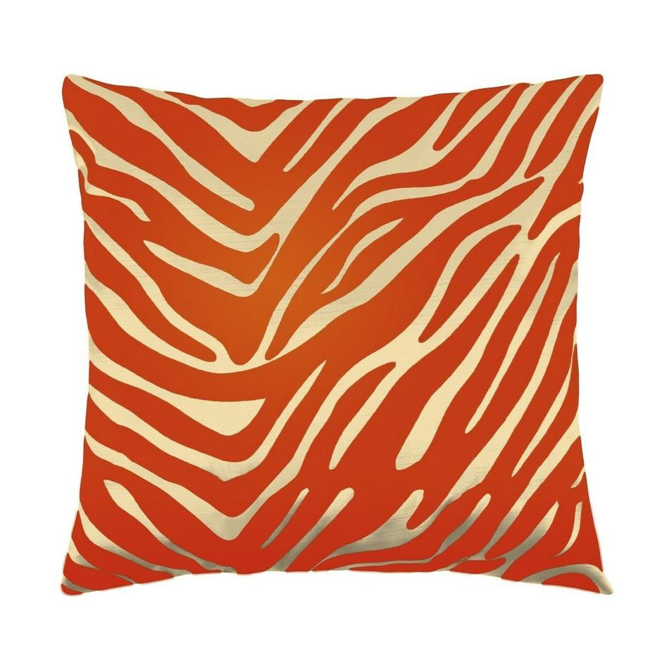 Bellatex vankúšik Leona - zebra vanilka, oranžová, 45 x 45 cm