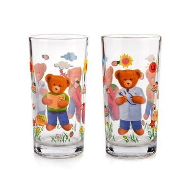 2dílná sada dětských skleniček Méďa 220 ml