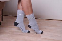 Ponožky treking, světle šedá, 26 - 28