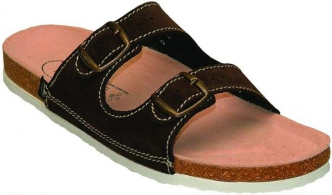 Pánské pantofle, hnědá, 46