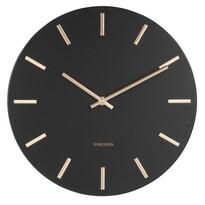 Karlsson 5821BK Stylowy zegar ścienny śr. 30 cm