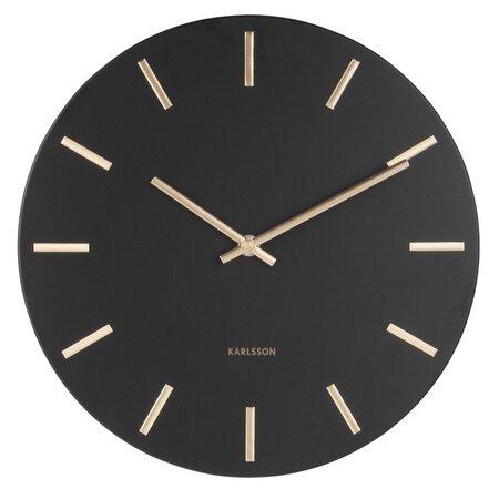 Karlsson 5821BK Designové nástěnné hodiny pr. 30 cm