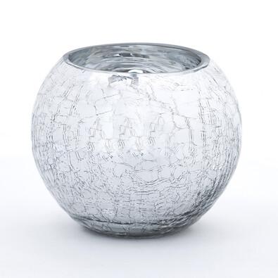 Váza skleněná praskaná koule