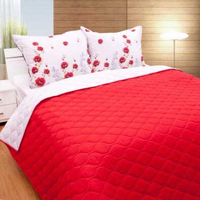 Přehoz na postel červená, 230 x 260 cm