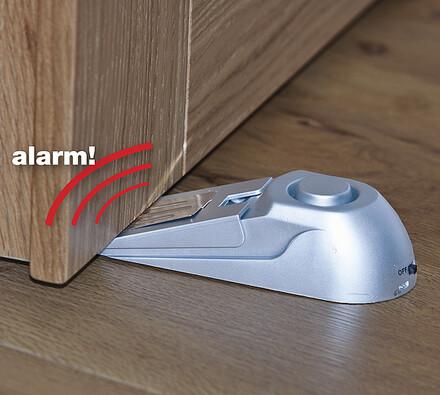 Alarm pod dveře stříbrný