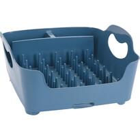Odkvapkávač na riad, 37 x 32 x 16 cm, modrá