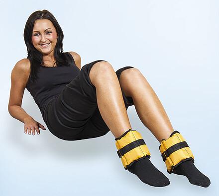 Zátěžový pás na nohy, žlutá