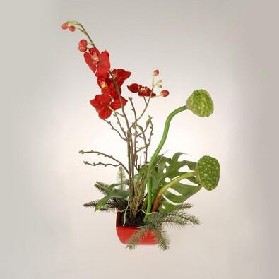 Umělá květina aranžmá orchideje a lotosu