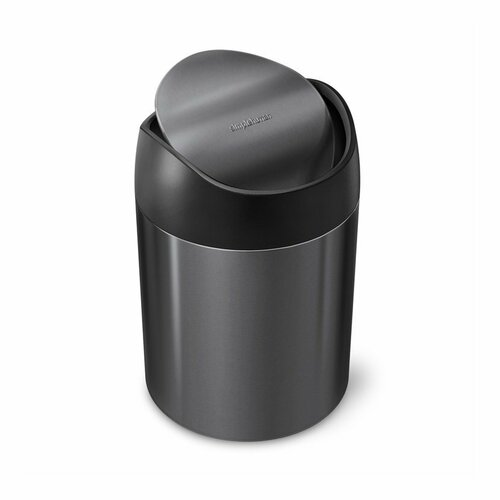 Simplehuman Coș de gunoi pentru masă MINI 1,5 l, negru imagine 2021 e4home.ro