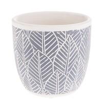 Recipient ceramic ghiveci Frunze, albastru, 10,5x 10 x 10,5 cm