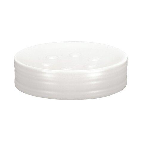 Miska pod mydlo biela