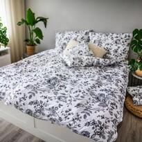 Saténové obliečky Ema BW Flower, 140 x 200 cm, 70 x 90 cm