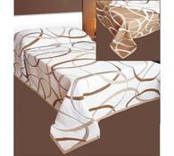 Přehoz na postel May hnědý, bílá + hnědá, 240 x 260 cm