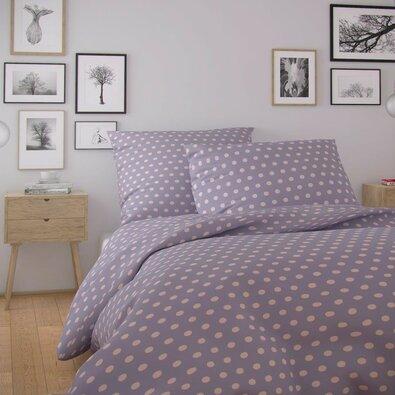 Kvalitex Bavlněné povlečení Nordic Olava fialová, 140 x 200 cm, 70 x 90 cm