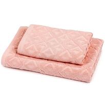 Sada Rio ručník a osuška růžová, 50 x 100 cm, 70 x 140 cm