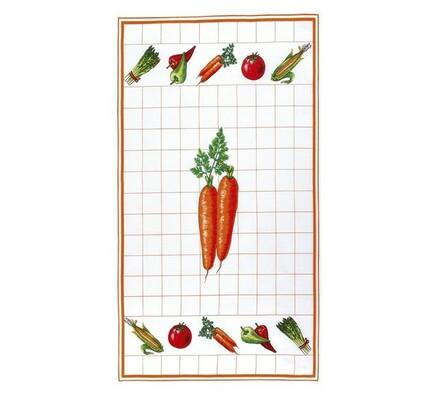 Kuchyňská utěrka mrkev, 40 x 70 cm