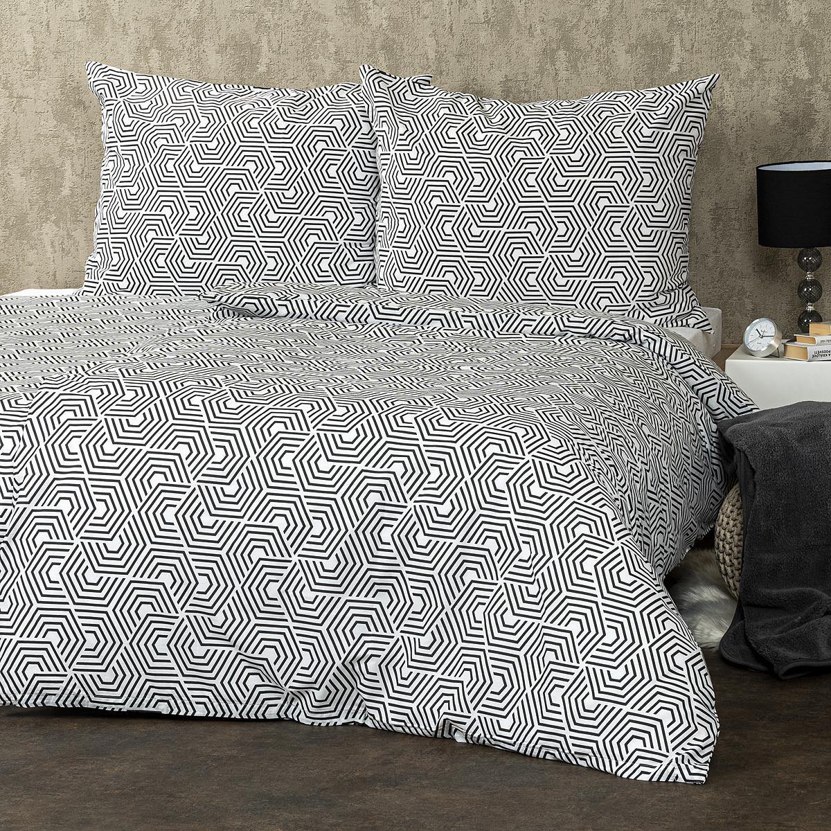 Trade Concept Bavlněné povlečení Geometric, 140 x 220 cm, 70 x 90 cm