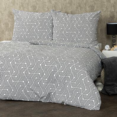 Bavlněné povlečení Geometric, 140 x 220 cm, 70 x 90 cm