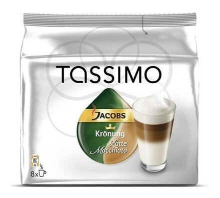 Kapsle Tassimo, Latte Macchiato, 16 ks, Jacobs Krö