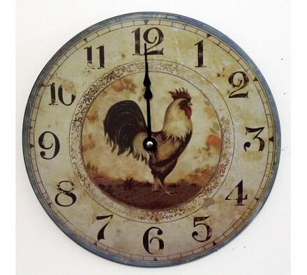 Nástěnné hodiny s kohoutem