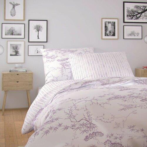 Kvalitex Bavlněné povlečení Nordic Disa fialová, 140 x 200 cm, 70 x 90 cm