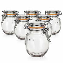 Banquet Lina hermetikusan zárható üveg tároló 120 ml, 6 db-os készlet
